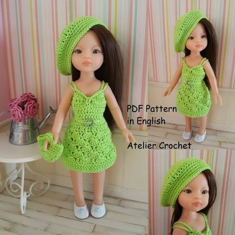 "Download ""Margaux"" crochet pattern for Paola Reina Doll immediately at Makerist"