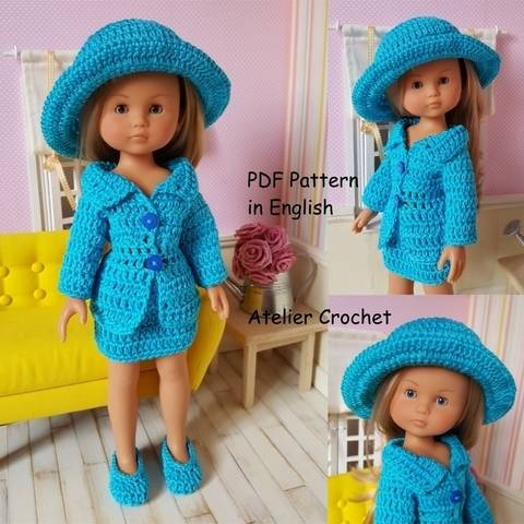 "Download ""Lady'suit"" crochet pattern for Chérie Corolle or Paola Reina immediately at Makerist"