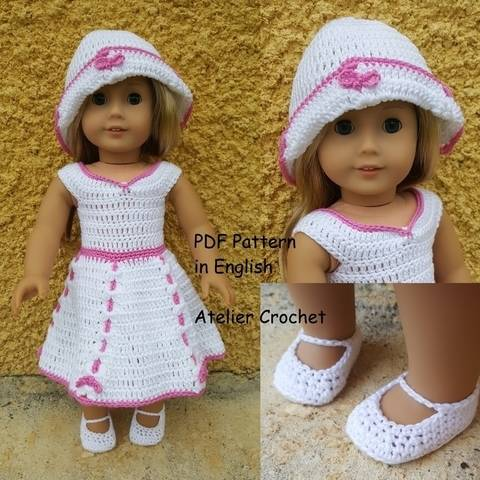 "Download ""Mérédith"" crochet pattern for American Girl immediately at Makerist"