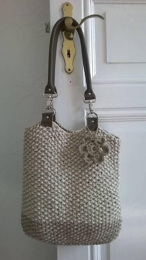Tasche mit Lederhenkeln bei Makerist sofort runterladen