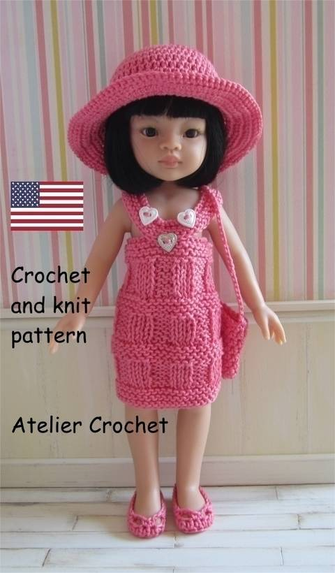 "Download ""Liu"" crochet and knit pattern for Paola Reina Doll immediately at Makerist"