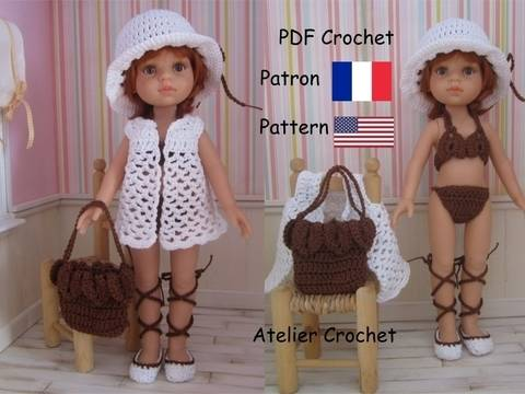 "Download ""Seaside"" crochet pattern for Paola Reina doll immediately at Makerist"