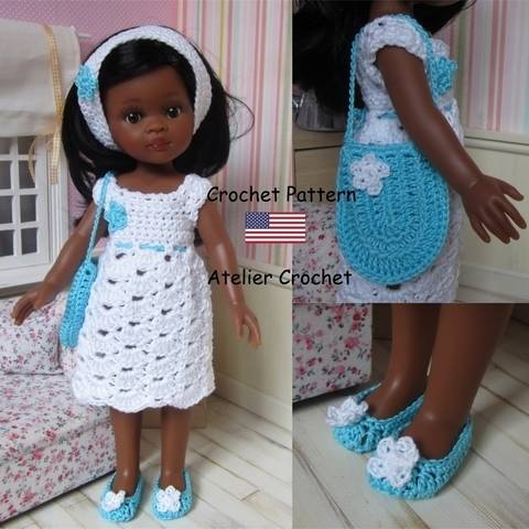 "Download ""Dalhia"" crochet pattern for Paola Reina doll immediately at Makerist"