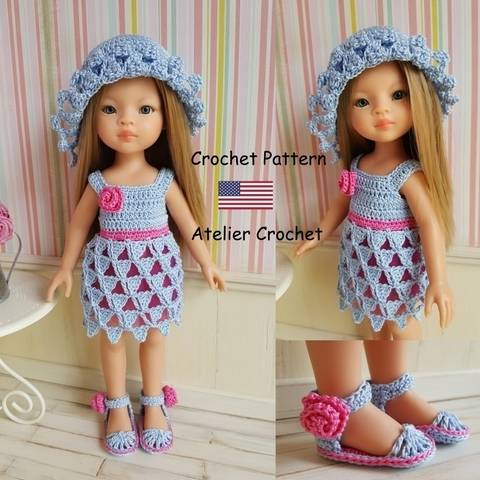 "Download ""Philippine"" crochet pattern for Paola Reina doll immediately at Makerist"