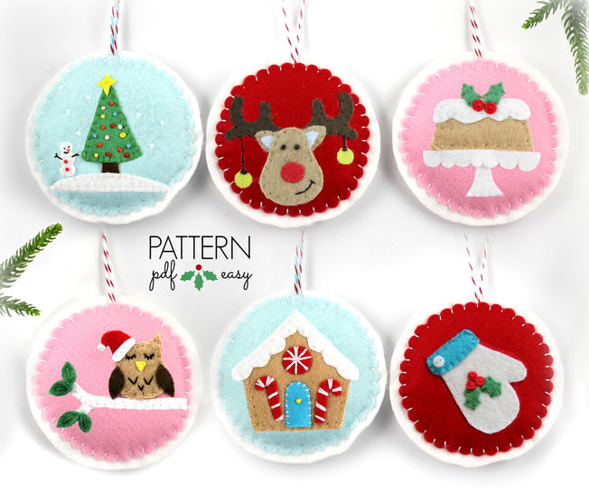 Download Christmas Ornaments Pattern - 6 Designs immediately at Makerist