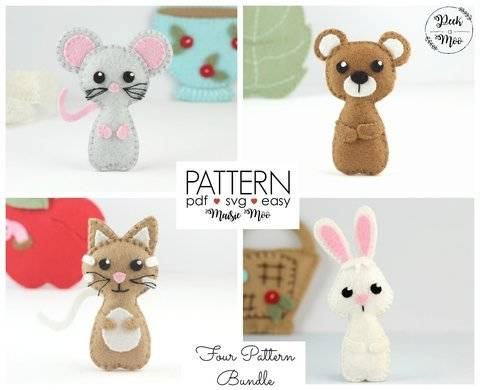Download MIni Felt Animals - Pocket Peek a Moo Pals immediately at Makerist