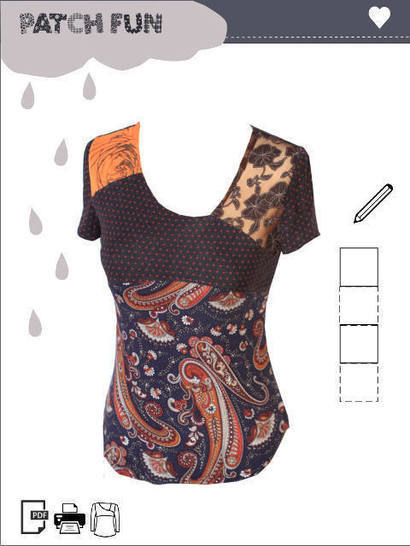 Download Girl Patch Top pdf sewing pattern  immediately at Makerist