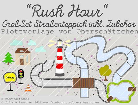 Rush Hour GroßSet Straßenteppich inkl. Fluss + See bei Makerist sofort runterladen