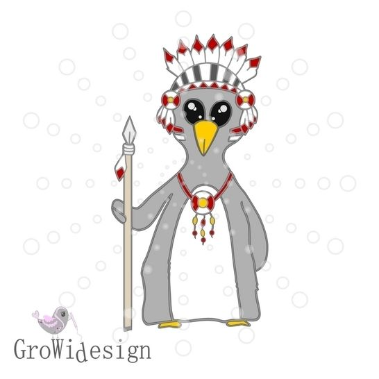 Pinguinindianer Plotterdatei bei Makerist sofort runterladen