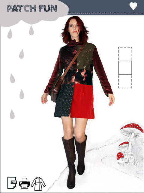 Download Girl Patch Coat pdf sewing pattern immediately at Makerist