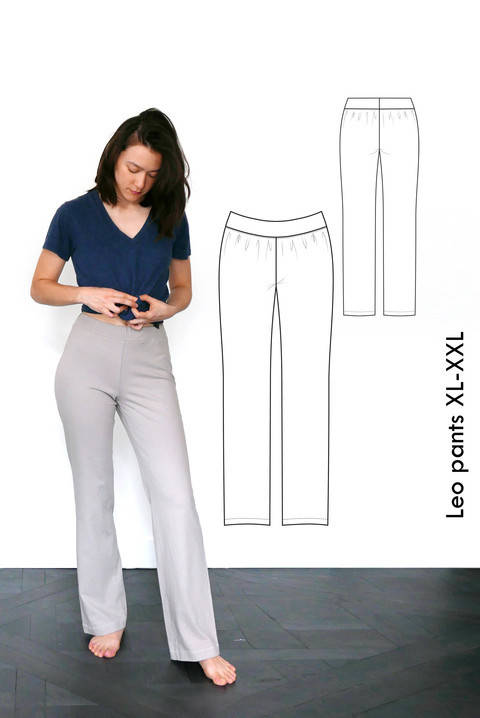 Download Jersey pants Leo - XL-XXL / US 12-14 / UK 14-16 - A4 +letter immediately at Makerist