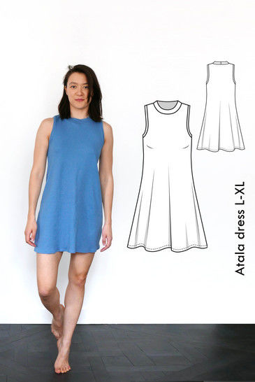 Download Atala sleeveless dress -L-XL /US size 10-12 /UK 12-14 immediately at Makerist
