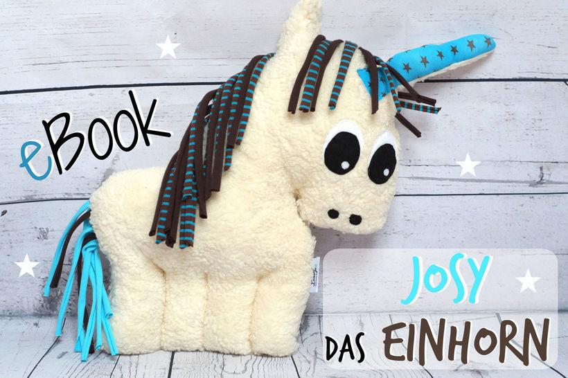 Ebook Josy das Einhorn- Nähanleitung, Schnitt. - Nähanleitungen bei Makerist sofort runterladen