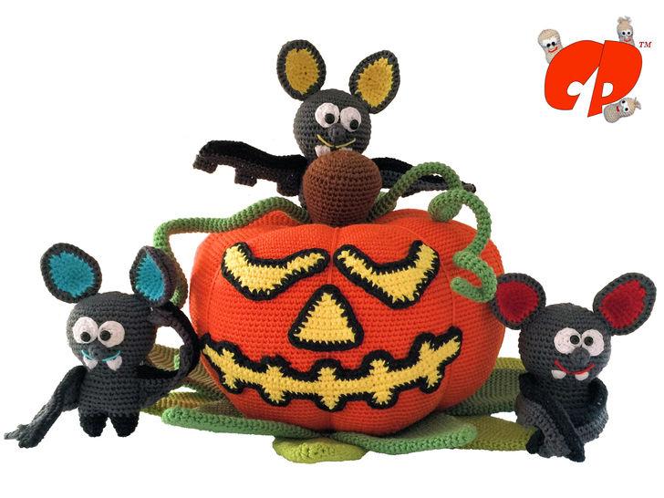 Häkelanleitung (067): Halloween-Kürbis - Häkelanleitungen bei Makerist sofort runterladen