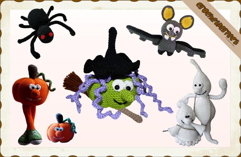 Häkelanleitung (033): Halloween Set - Häkelanleitungen bei Makerist sofort runterladen