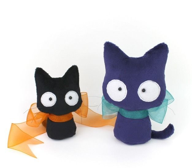 Halloween Cat Spooky Plush Toy Stuffed Animal Sewing Pattern