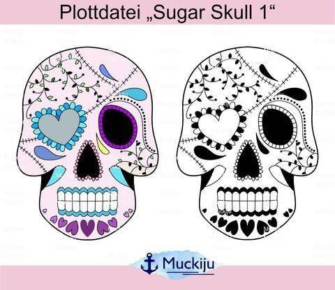"""Plotterdatei """"Sugar Skulls 1"""" bei Makerist sofort runterladen"""