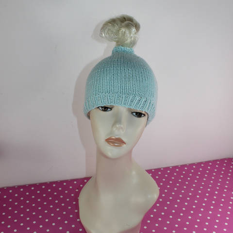Download Simple Messy Bun Beanie Hat immediately at Makerist