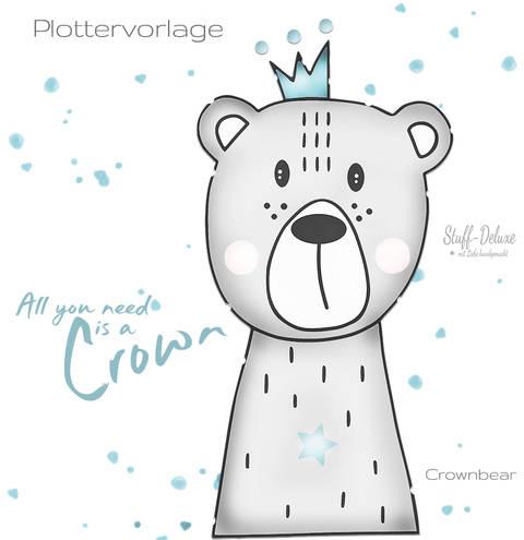 stuffdeluxe Crownbear Plottervorlage bei Makerist sofort runterladen