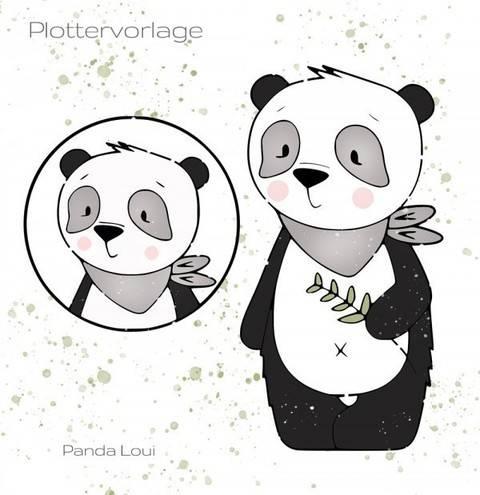 stuffdeluxe Panda Loui Plottervorlage bei Makerist sofort runterladen