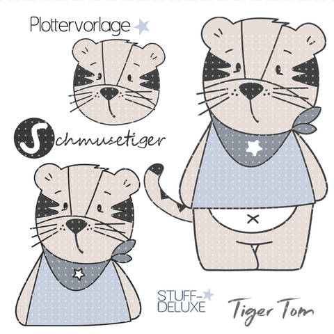 stuffdeluxe Tiger Tom Plottervorlage  bei Makerist sofort runterladen