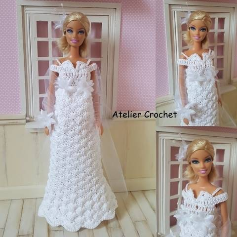 "Download ""Antonia"" crochet pattern for Barbie immediately at Makerist"