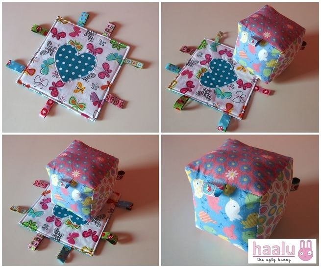 Download Crinkle Ribbon Toy & Rattle Block - sewing tutorial immediately at Makerist