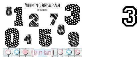 Plotterdatei ★ Zahlen in Geburtstagszahl ★ bei Makerist sofort runterladen