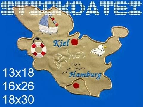 Schleswig Holstein HH Puzzle 3 Größen  bei Makerist sofort runterladen