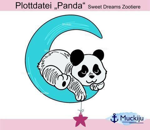 "Plottdatei ""Panda"" Sweet Dreams Zootiere bei Makerist sofort runterladen"