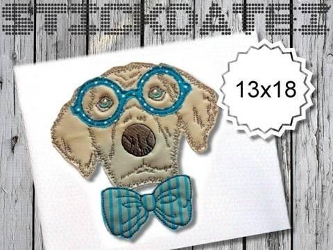 Hipster Hund Doodle 13x18 Applikation bei Makerist