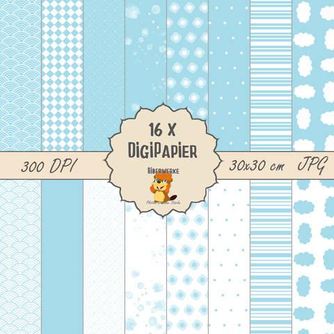 DigiPapier Pastell Blau bei Makerist sofort runterladen