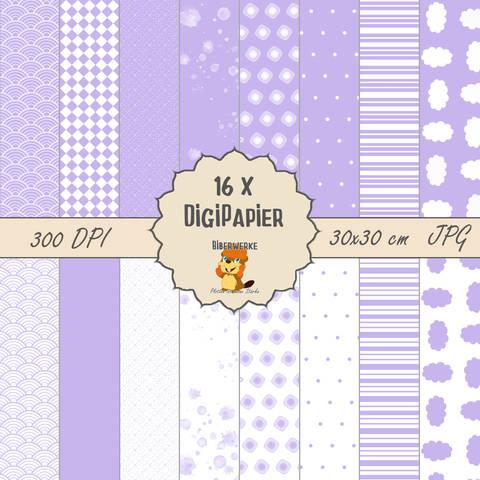 DigiPapier Pastell Lila bei Makerist sofort runterladen
