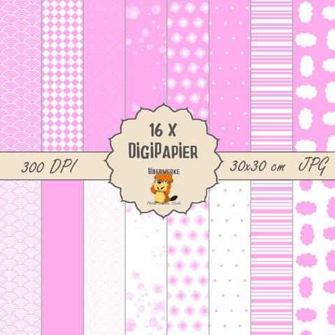 DigiPapier Pastell Rosa bei Makerist sofort runterladen
