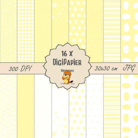 DigiPapier Pastell Vanille bei Makerist sofort runterladen