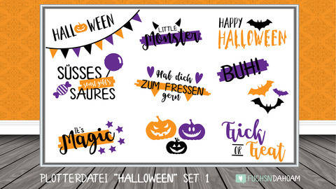 HALLOWEEN Set 1 - Plotterdateien | DigiPaper | DigiStamps bei Makerist sofort runterladen