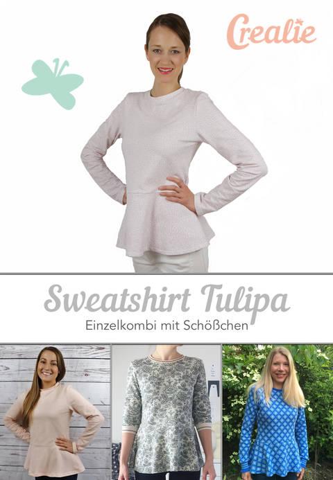 Sweatshirt / Pulli TULIPA - Einzelkombi mit Schößchen bei Makerist sofort runterladen
