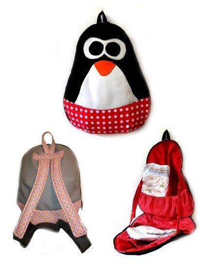 Ebook Nähanleitung WiTaRu Pinguin Wickeltasche Rucksack Tasche Tier Kindergarten  - Nähanleitungen bei Makerist sofort runterladen