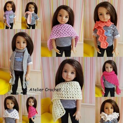 "Download ""Scarves"" crochet pattern for Little Darling immediately at Makerist"