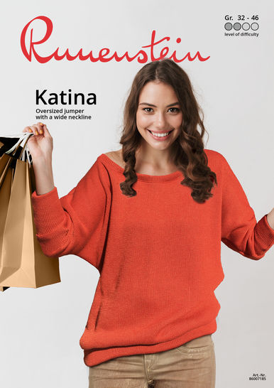 Download Katina Oversized jumper 32-46 Pattern & Instruction immediately at Makerist
