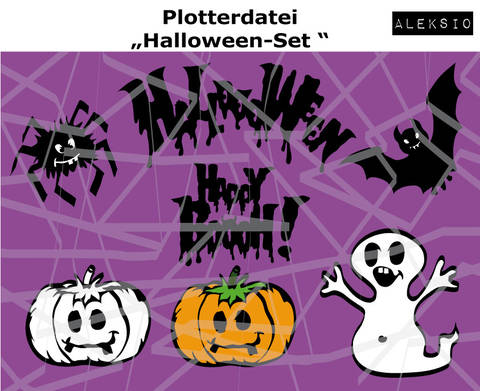 Plotterdatei Halloween-Set bei Makerist sofort runterladen