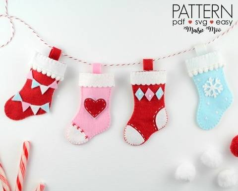 Download Christmas Stocking Ornament Pattern  immediately at Makerist