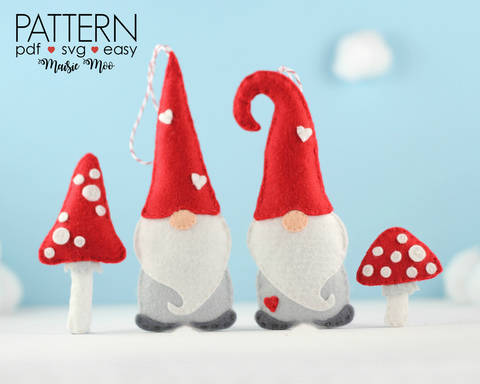 Download Christmas Gnome Ornament Pattern immediately at Makerist