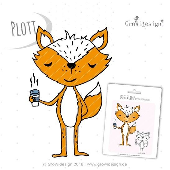 coffeeFOX Plotterdatei inkl. DigiStamp bei Makerist sofort runterladen