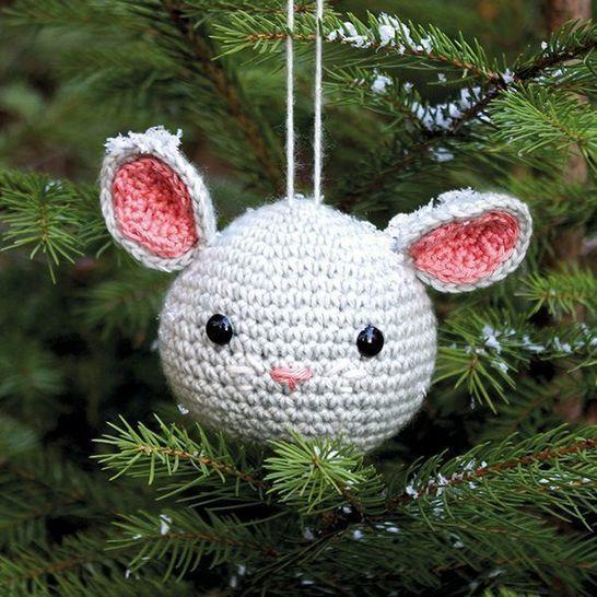 Weihnachtskugel Fussel die Maus - Häkelanleitung  bei Makerist sofort runterladen