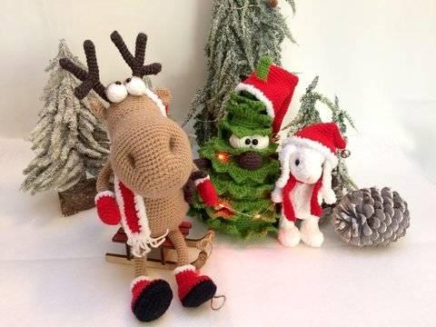 Amigurumi Weihnachtsbaum, Rentier & Schneehase bei Makerist sofort runterladen