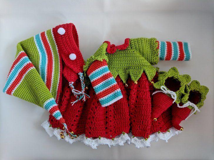 Weihnachts-Elfen Outfit für Amigurumi Puppe Mia bei Makerist sofort runterladen