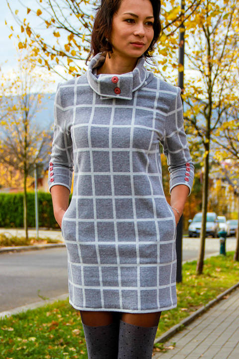 Download Ladies Autumn / Winter Dress Sewing Pattern immediately at Makerist