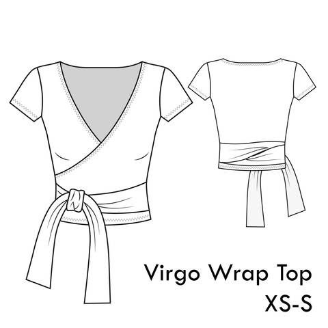 Download Virgo Jersey Wrap Top - XS-S / US 4-6 / UK 6-8 - A4 + letter immediately at Makerist