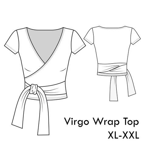 Download Virgo Jersey Wrap Top -XL-XXL /US 12-14 /UK 14-16- A4+letter immediately at Makerist